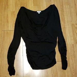 Cache slinky black tunic w/split sleeves M